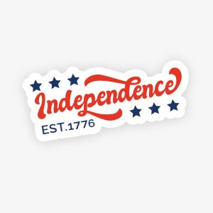 Independence USA Stars Fourth of July 1776 Sticker